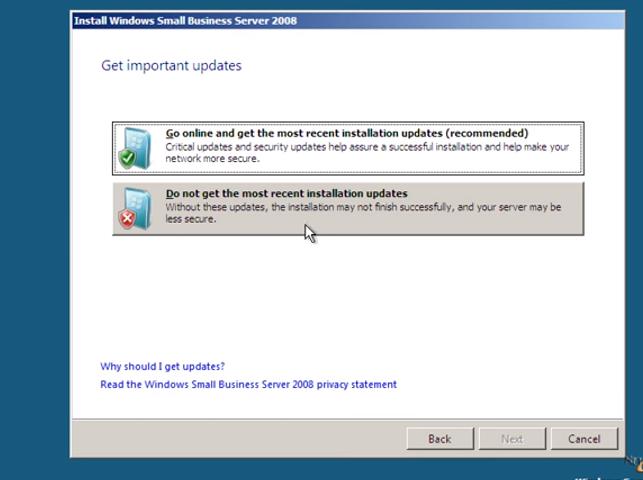 Windows Small Business Server 2008 Installation Guide